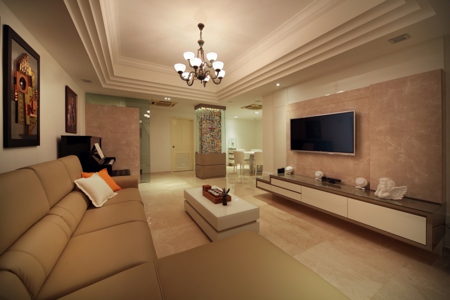 Home interior designers in singapore condo and hdb for Condo living room design